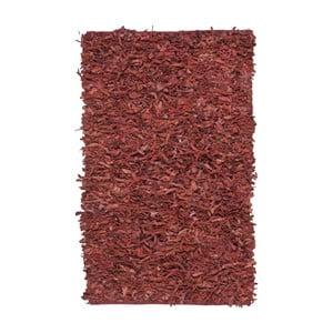 Skórzany dywan Avant Red, 91x152 cm