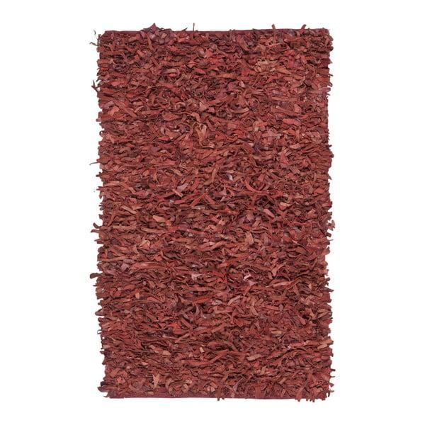 Skórzany dywan Avant Red, 121x182 cm