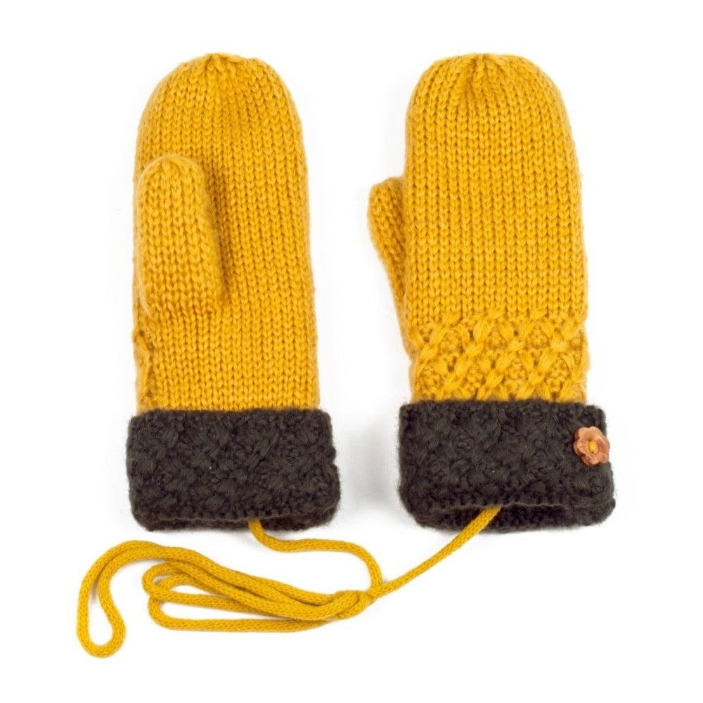 625be8280de2c4 Żółte rękawiczki Tina | Bonami