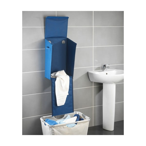 Niebieski wiszący kosz na pranie Wenko Turbo-Loc