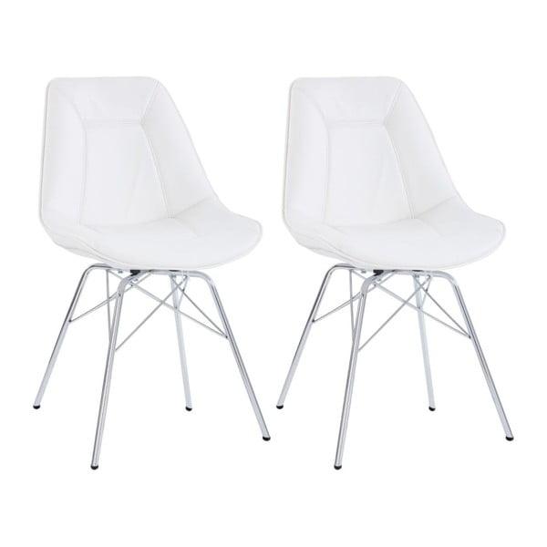 Zestaw 2 białych krzeseł Støraa Shirley