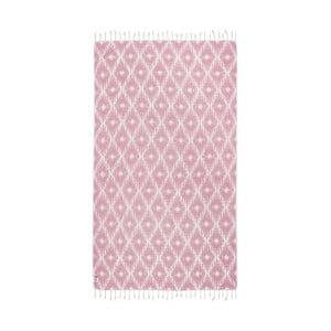 Różowy ręcznik hammam Kate Louise Calypso, 165x100 cm