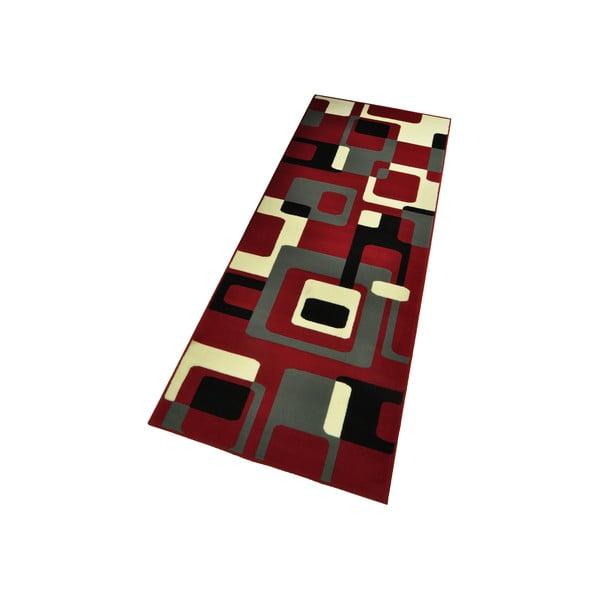 Dywan Hamla Retro, 80x150 cm, czerwony