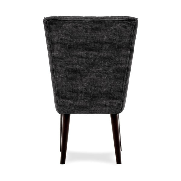 Ciemnoszare krzesło tapicerowane Vivonita Leila