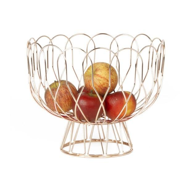 Miedziany kosz na owoce Present Time Wired Copper