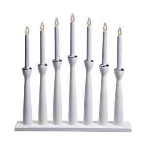 Biały świecznik drewniany LED Markslöjd Maseskar