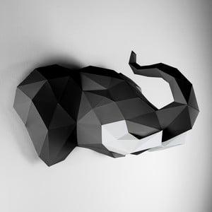 Papierowe poroże Słoń, czarno-białe