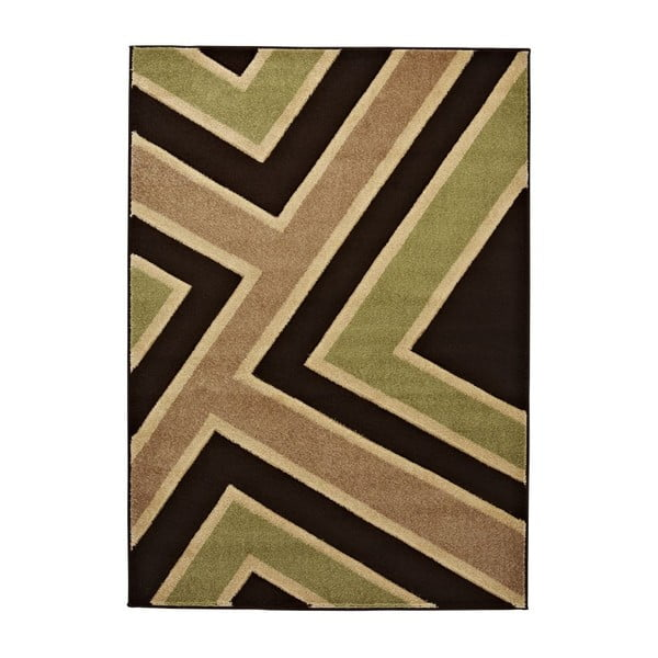 Dywan Matrix Brown Green, 120x170 cm