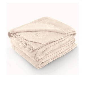 Krémová deka z mikrovlákna AmeliaHome Tyler, 150 x 200 cm