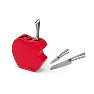 Zestaw noży ze stojakiem Red Apple, 3 sztuki
