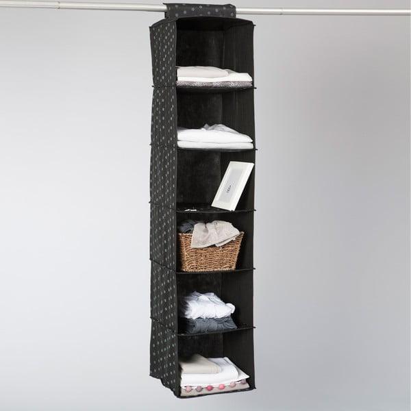 Organizer tekstylny Compactor Garment Black 6 Rack