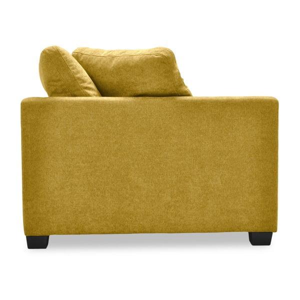 Żółta sofa 3-osobowa Vivonita Hugo