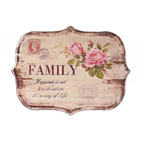 Tabliczka naścienna Family, 34x25 cm