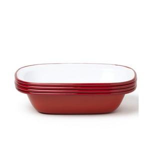 Zestaw 4 czerwonych emaliowanych foremek do ciasta Falcon Enamelware