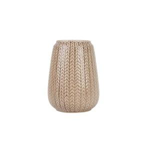 Duży brązowy wazon Present Time Knitted