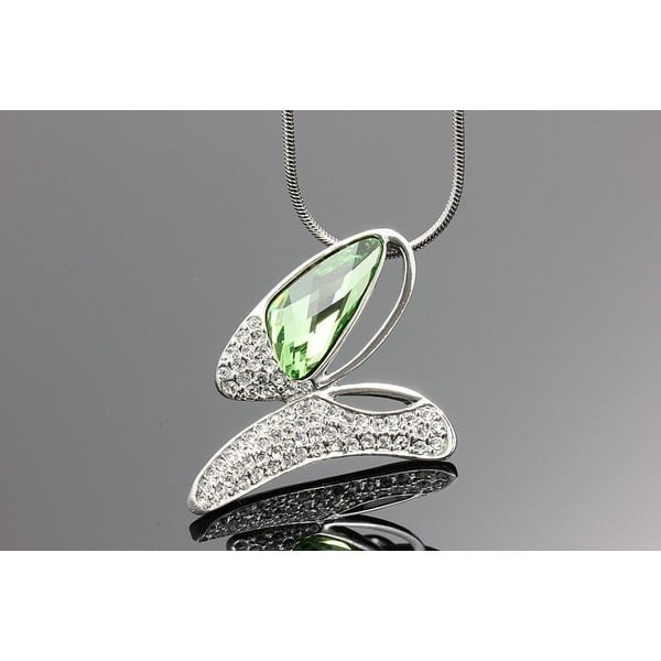 Naszyjnik Swarovski Elements Butterfly Green