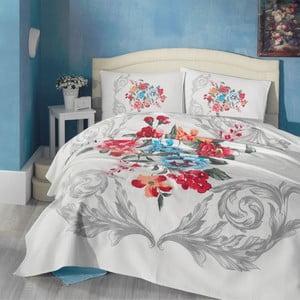 Komplet narzuty, prześcieradła i poszewek na poduszki Vanessa Blue, 200x230 cm