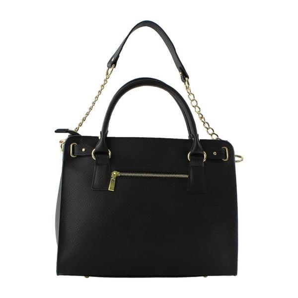 Czarna skórzana torebka Monica