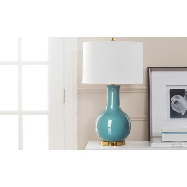 Ceramiczna lampa stołowa Paris, niebieska