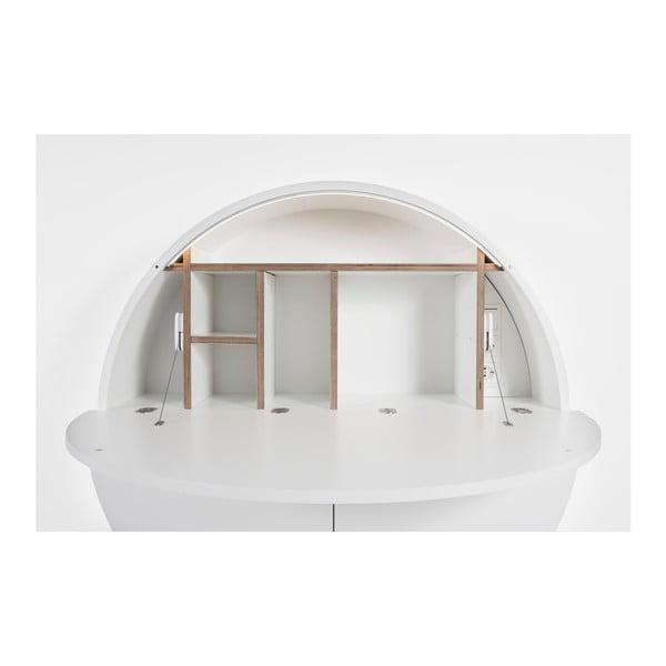Białe biurko wiszące wielofunkcyjne Emko Pill