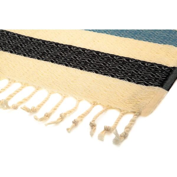 Ręcznik hammam Moss Black, 95x175 cm