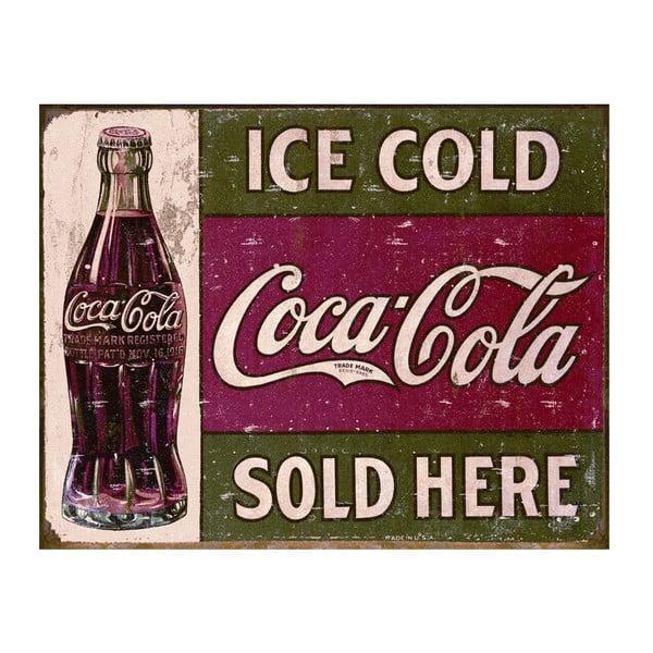 Blaszana tabliczka Ice Cold I, 30x40 cm