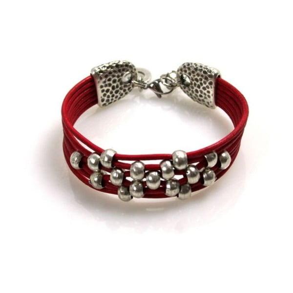 Bransoletka Pearls, czerwona