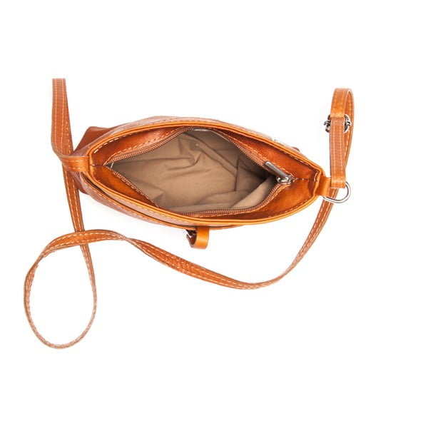 Skórzana torebka Roberta M. 241 Cognac