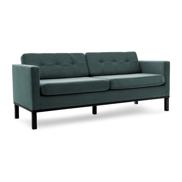 Sofa trzyosobowa VIVONITA Jonan Light Blue, czarne nogi