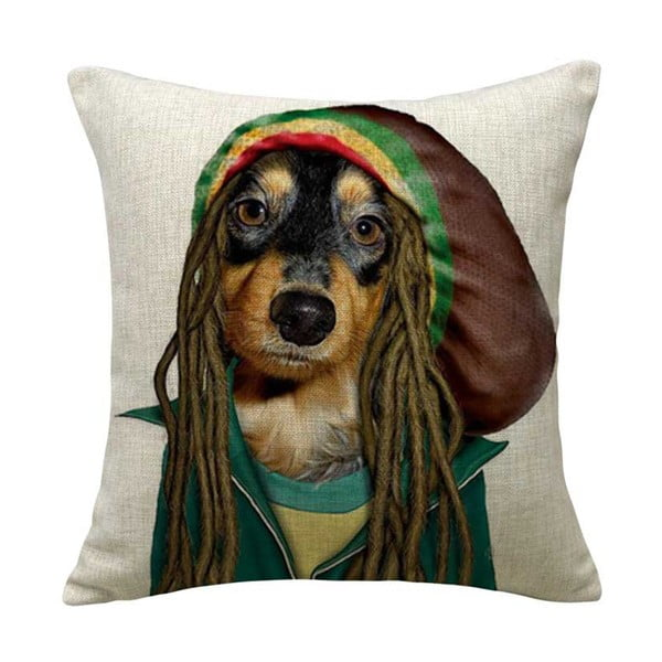 Poszewka na poduszkę Rasta Dog, 45x45 cm