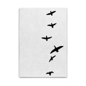 Czarno-biały dywan z motywem ptaków w locie HF Living, 120x170 cm