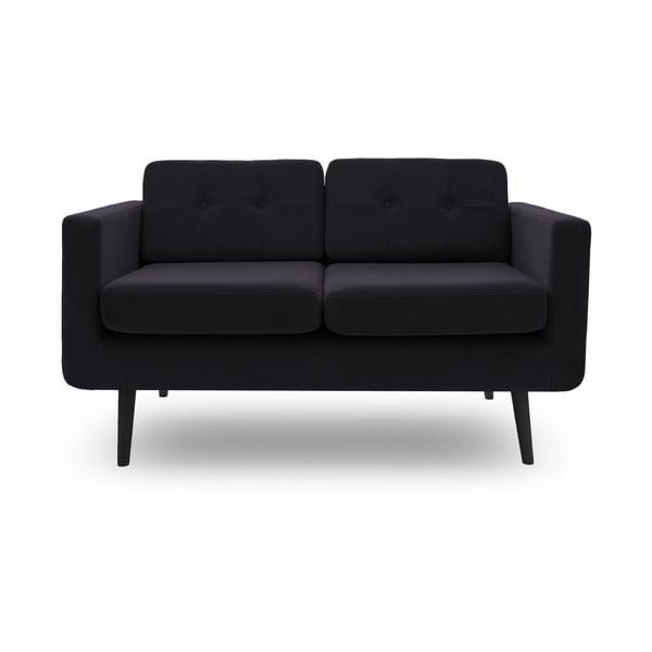 Sofa dwuosobowa VIVONITA Sondero Dark Grey, czarne nogi