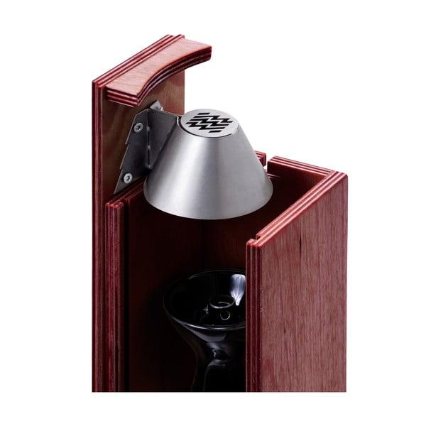 Designerska fajka wodna Hekkpipe Active, mahoń