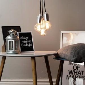 Lampa wisząca potrójna Cero, srebrny/czarny/czarny