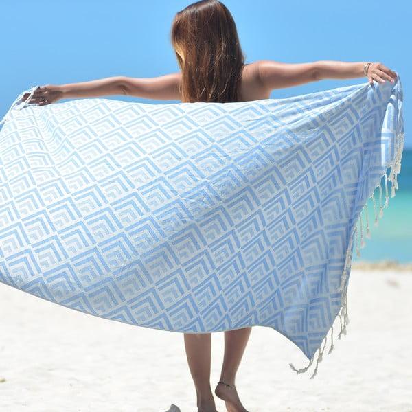 Ręcznik hammam Hype, niebieski