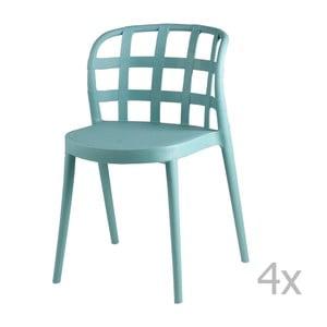 Zestaw 4 miętowych krzeseł sømcasa Gina