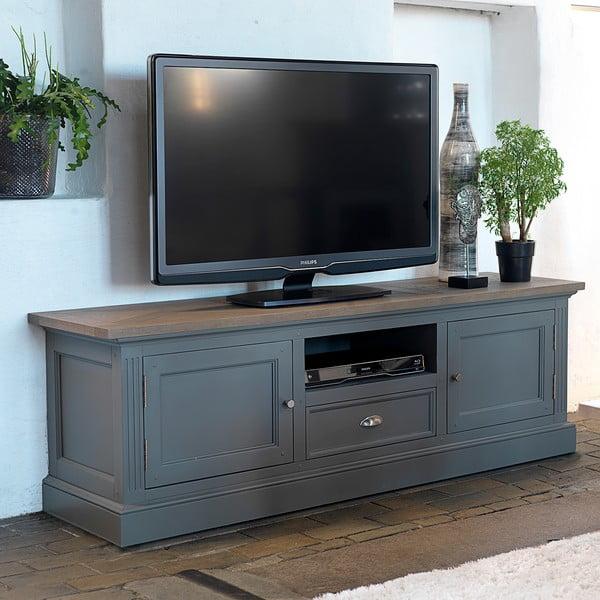 Szary stolik pod telewizor Canett Royal TV, 1 szuflada