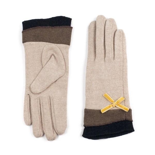 Rękawiczki Bow Beige