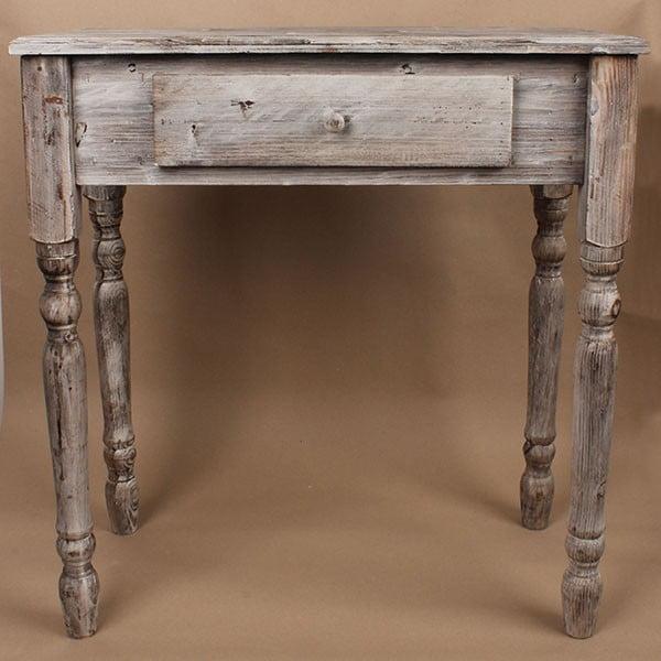 Stół drewniany z szufladą Grey Days, 74x78 cm