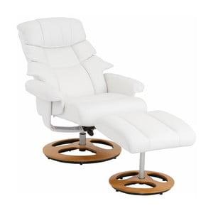 Biały fotel z podnóżkiem Støraa Tony