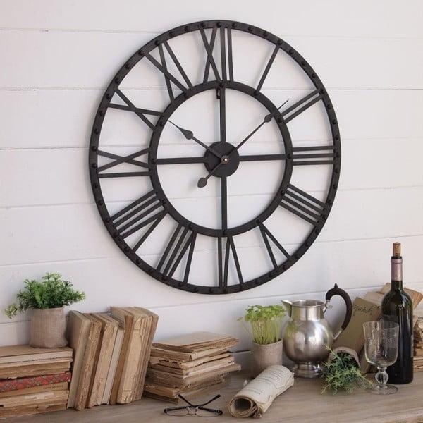 Zegar naścienny Industrial Rusty Black, 70 cm