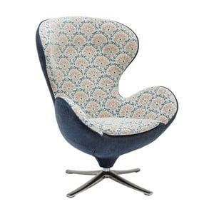Szaro-niebieski fotel Kare Design Surprise