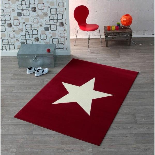 Czerwony dywan dziecięcy Hanse Home Star, 140x200cm