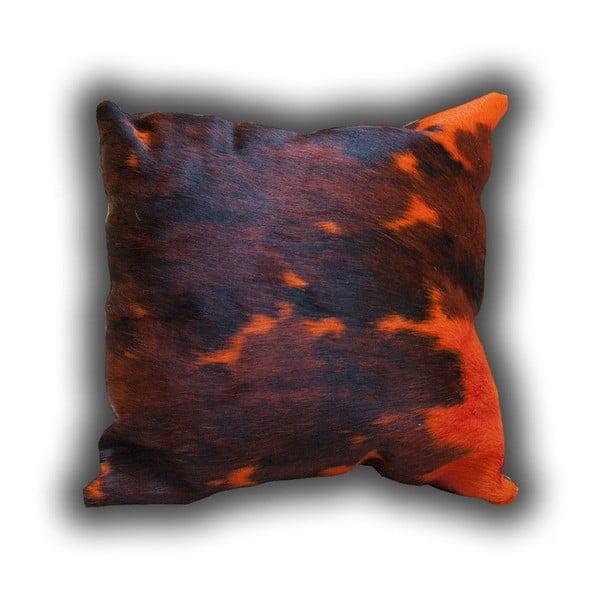Poduszka skórzana Orange Cow, 45x45 cm