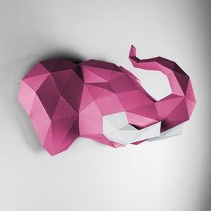 Papierowe poroże Słoń, różowo-białe