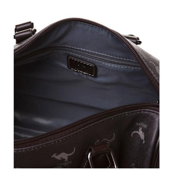 Skórzana torebka do ręki Canguru Kangaroo, brązowa