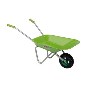 Zielona taczka dziecięca do ogrodu Esschert design