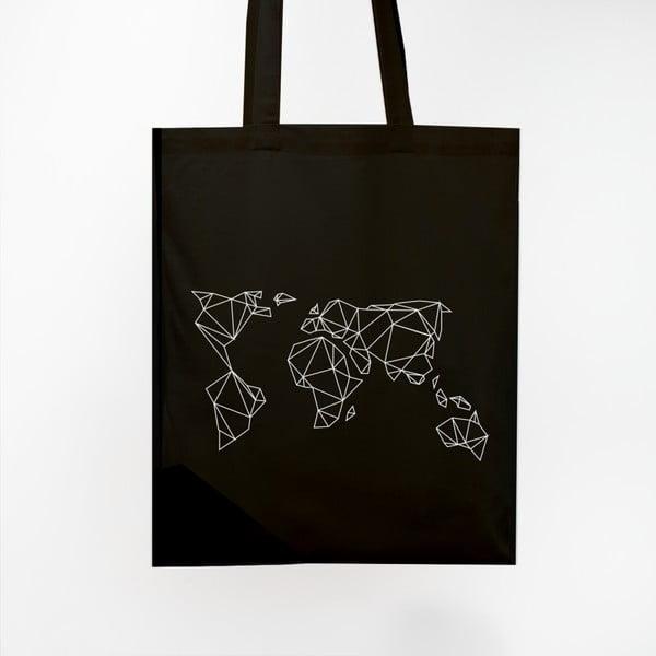 Torba płócienna Geometrische Erde Black