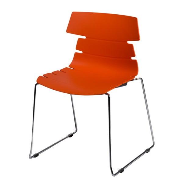 Zestaw 2 pomarańczowych krzeseł D2 Techno