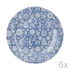Zestaw 6 talerzy Penzance Dark, 26 cm